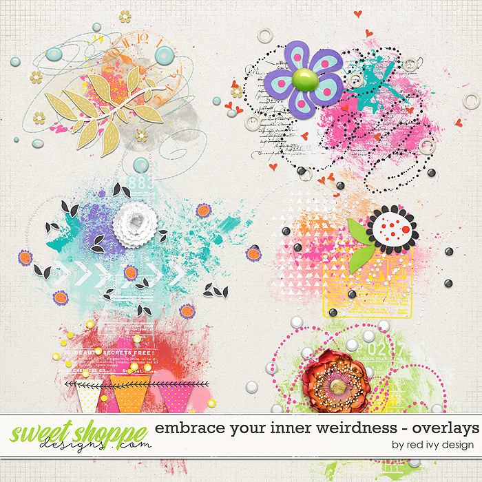 Embrace Your Inner Weirdness - Overlays by Red Ivy Design