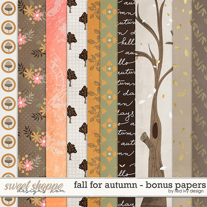 Fall for Autumn - Bonus Papers by Red Ivy Design