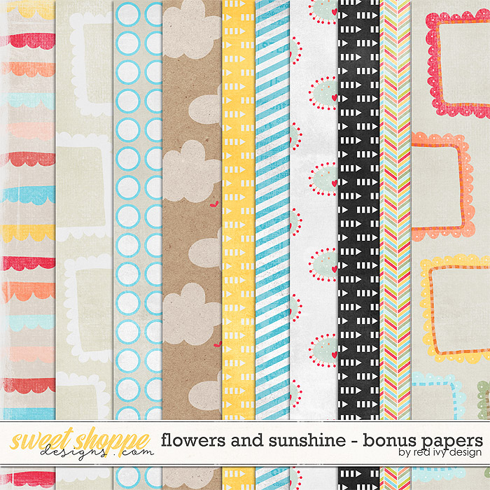 Flowers and Sunshine - Bonus Papers by Red Ivy Design