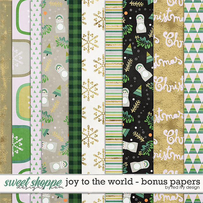 Joy To The World - Bonus Papers by Red Ivy Design