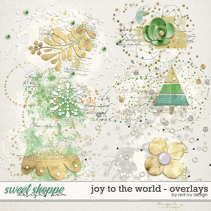 Joy To The World - Overlays by Red Ivy Design