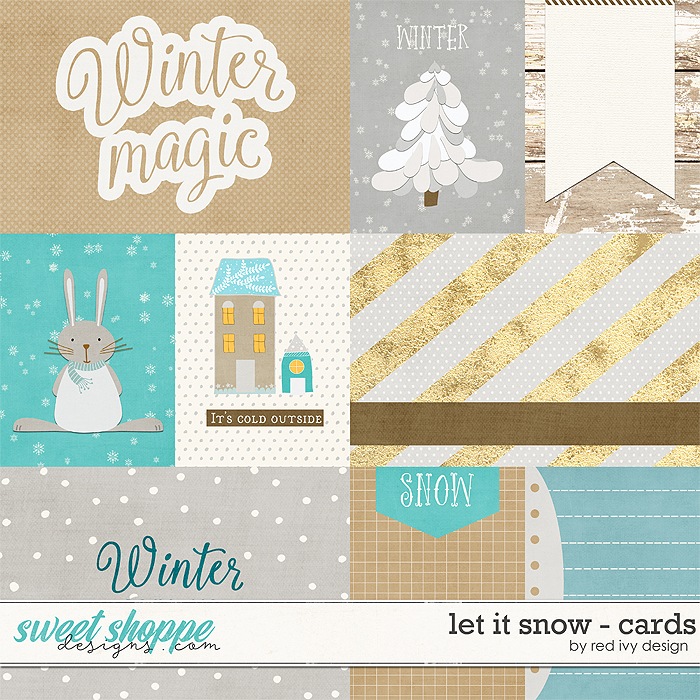 Let It Snow - Cards by Red Ivy Design