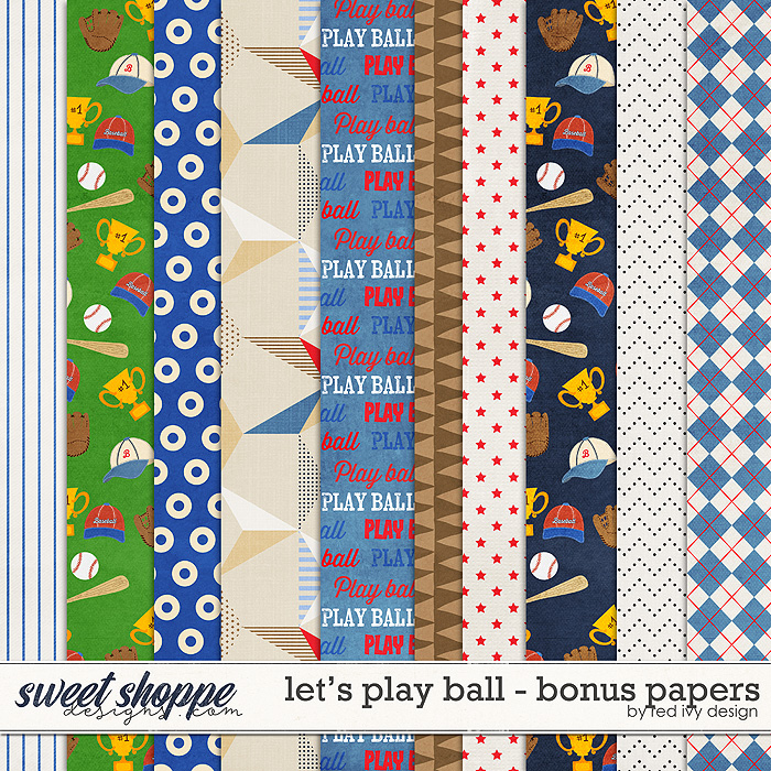 Let's Play Ball - Bonus Papers by Red Ivy Design