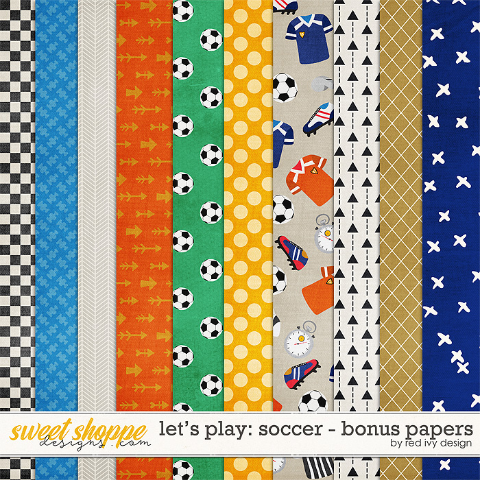 Let's Play: Soccer - Bonus Papers by Red Ivy Design