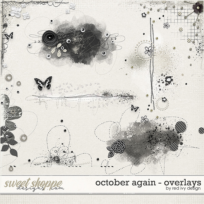 October Again - Overlays by Red Ivy Design