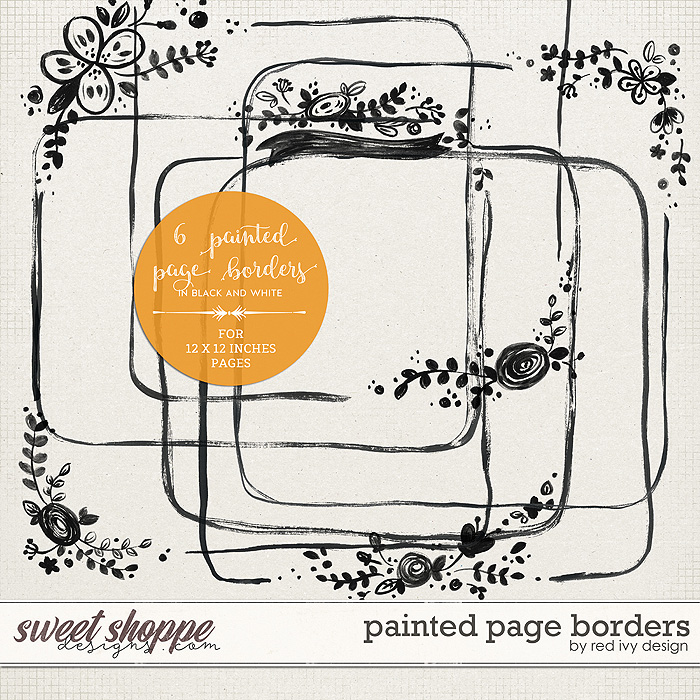 Painted Page Borders by Red Ivy Design