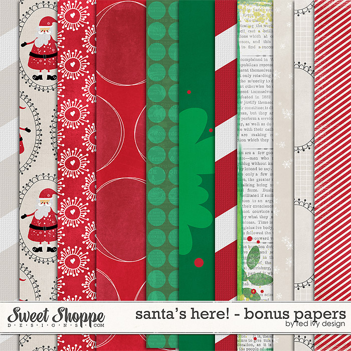 Santa's Here! - Bonus Papers - by Red Ivy Design