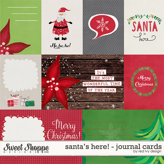 Santa's Here! - Cards - by Red Ivy Design