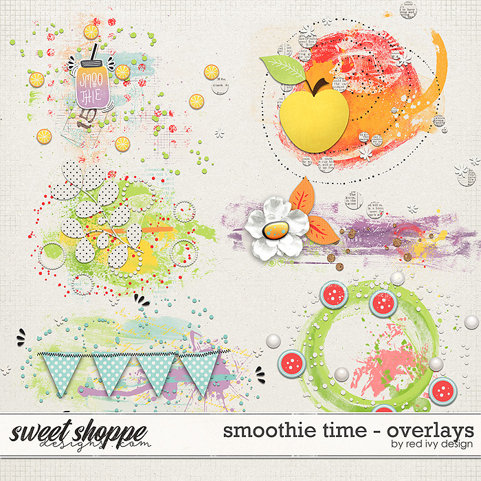Smoothie Time - Overlays by Red Ivy Design