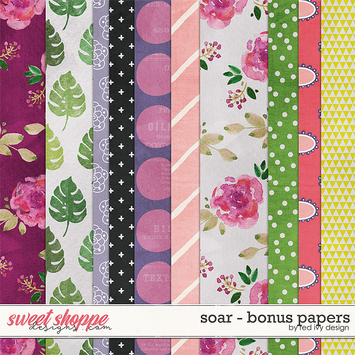 Soar - Bonus Papers by Red Ivy Design