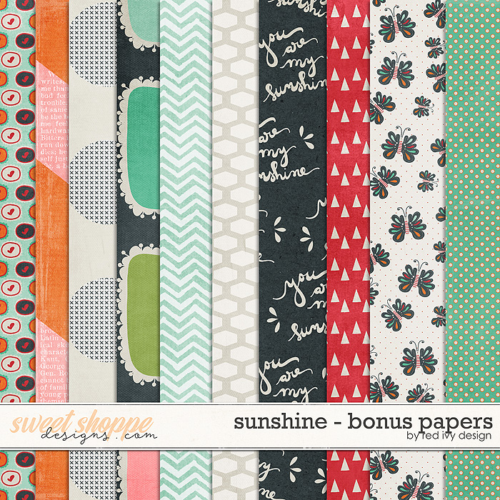 Sunshine - Bonus Papers by Red Ivy Design