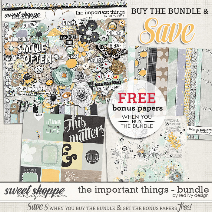 The Important Things - Bundle by Red Ivy Design