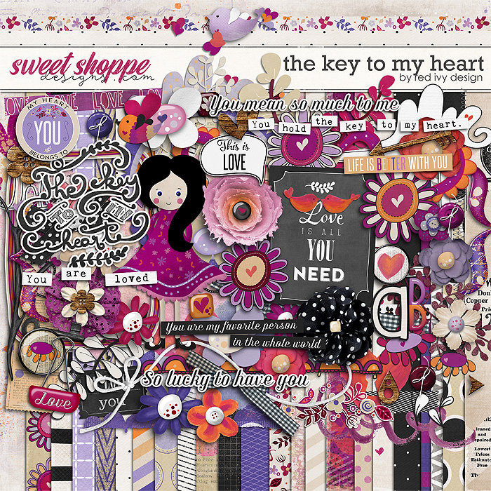 The Key To My Heart by Red Ivy Design