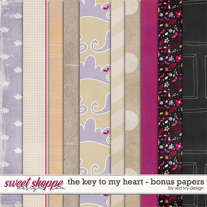 The Key To My Heart - Bonus Papers by Red Ivy Design