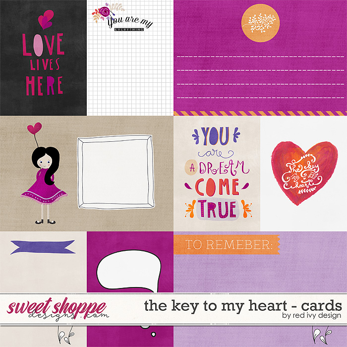 The Key To My Heart - Cards by Red Ivy Design