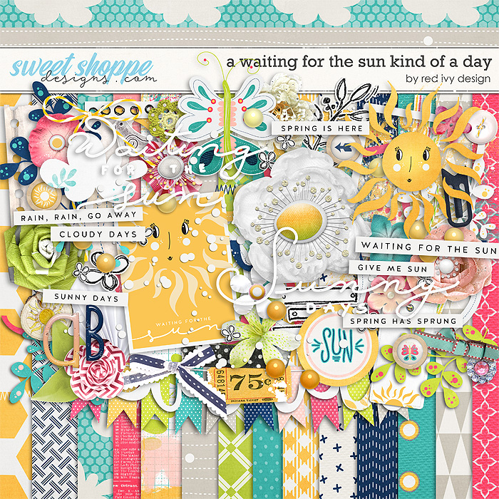 A Waiting for the Sun Kind of a Day by Red Ivy Design