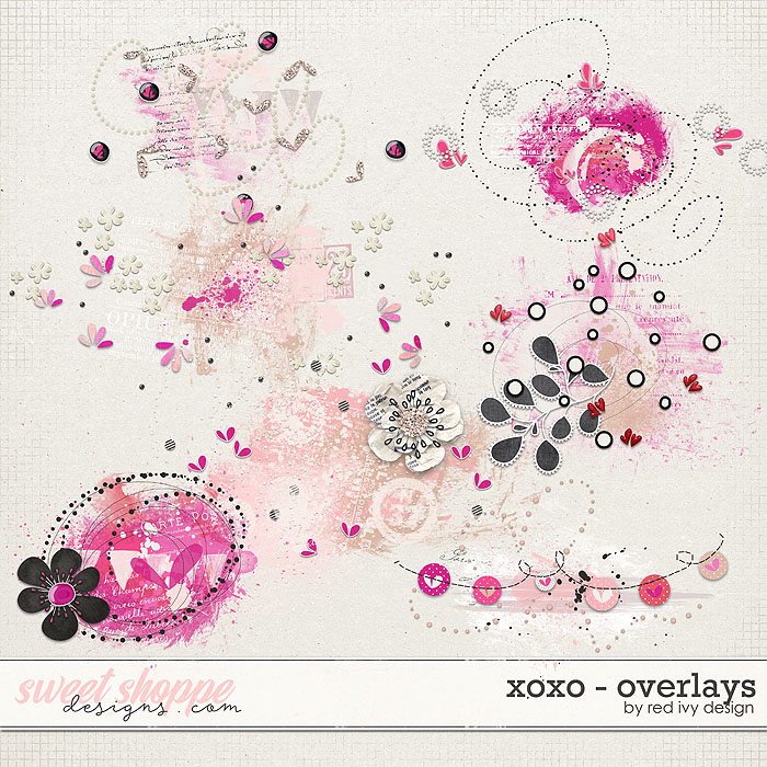 XOXO - Overlays - by Red Ivy Design