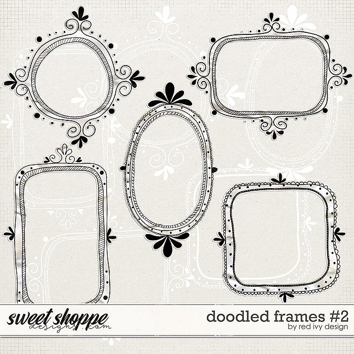 Doodled Frames #2 by Red Ivy Design