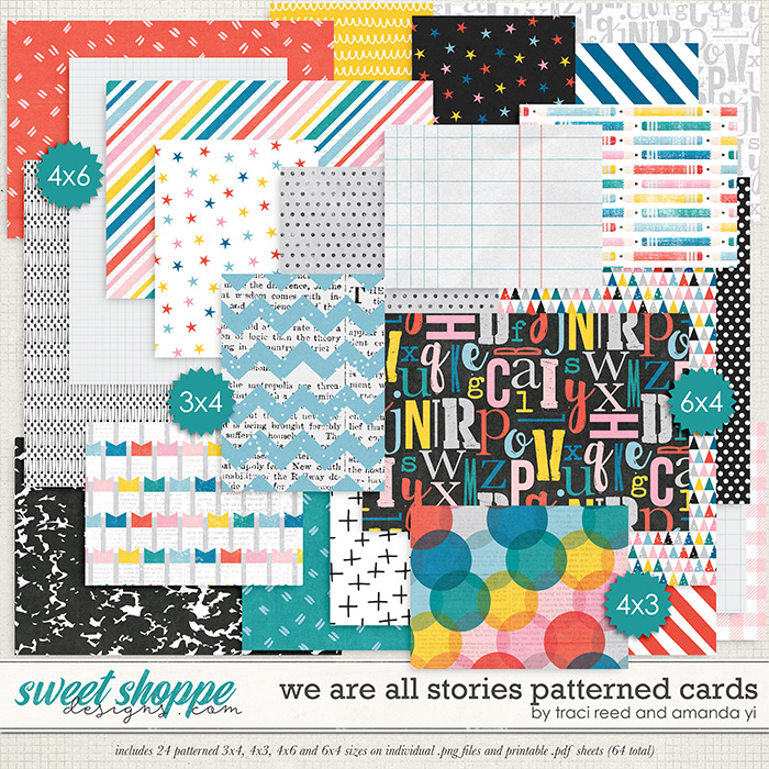 We Are All Stories Patterned Cards by Traci Reed and Amanda Yi