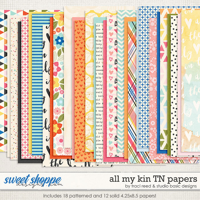 All My Kin TN Papers by Studio Basic and Traci Reed