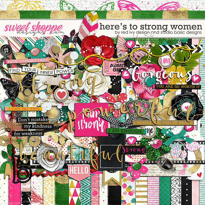 Here's To Strong Women Kit by Red Ivy Design and Studio Basic