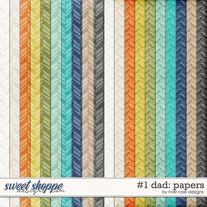 #1 Dad: Papers by River Rose Designs