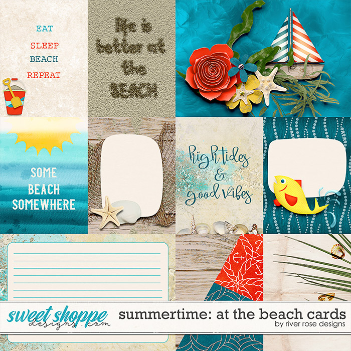 Summertime: At the Beach Cards by River Rose Designs