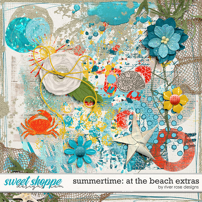 Summertime: At the Beach Extras by River Rose Designs