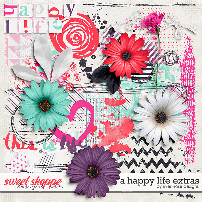 A Happy Life Extras by River Rose Designs