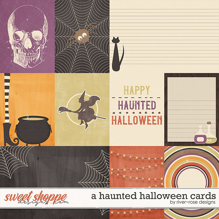 A Haunted Halloween Cards by River Rose Designs