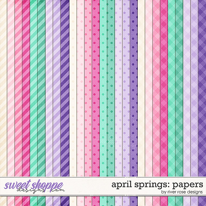April Springs: Papers by River Rose Designs