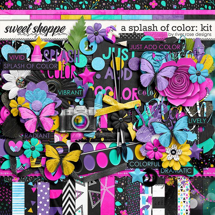 A Splash of Color: Kit by River Rose Designs