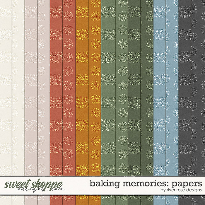 Baking Memories: Papers by River Rose Designs
