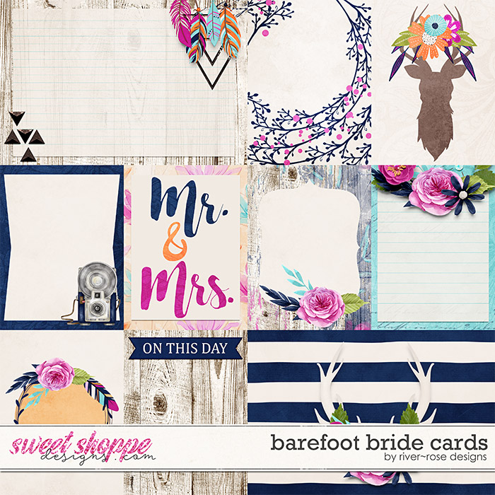 Barefoot Bride Cards by River Rose Designs