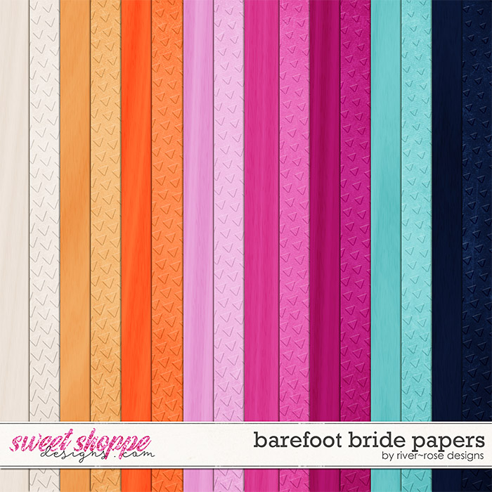 Barefoot Bride Papers by River Rose Designs