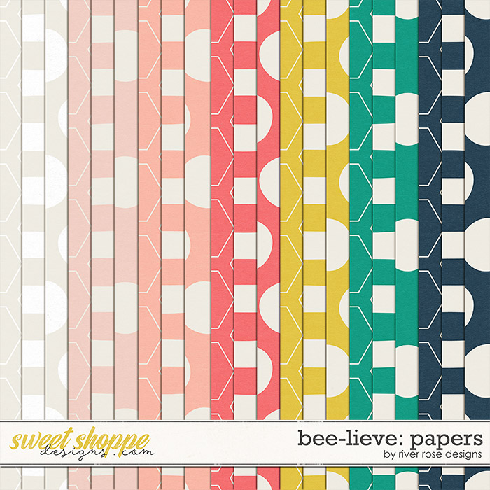 Bee-lieve: Papers by River Rose Designs