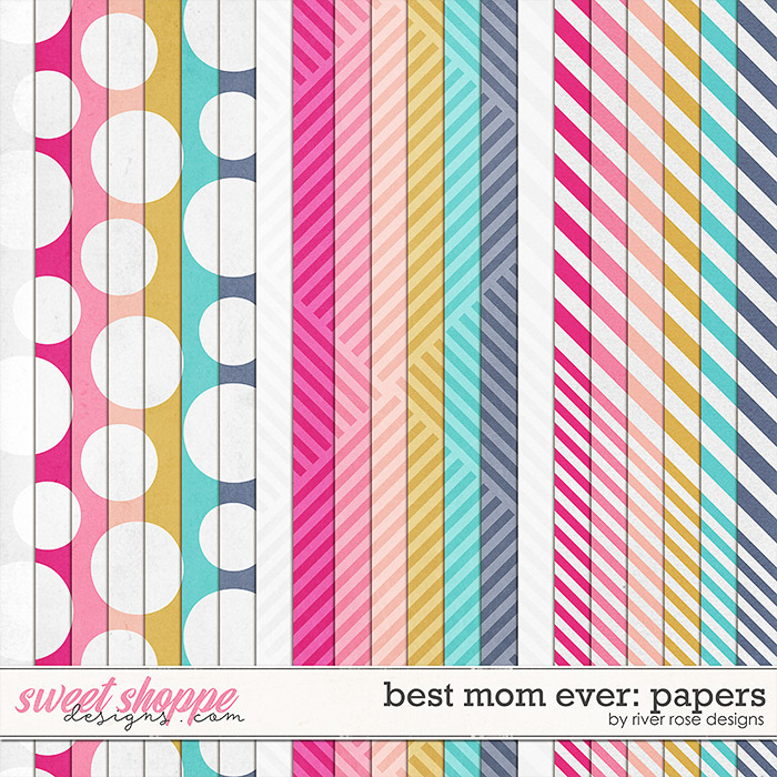 Best Mom Ever: Papers by River Rose Designs
