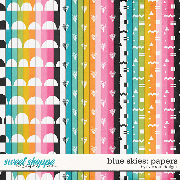 Blue Skies: Papers by River Rose Designs
