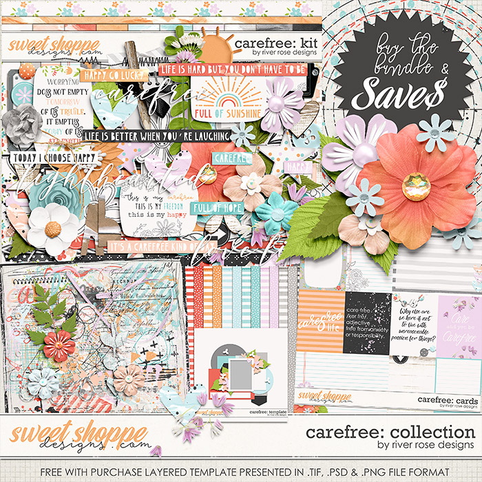 Carefree: Collection + FWP by River Rose Designs