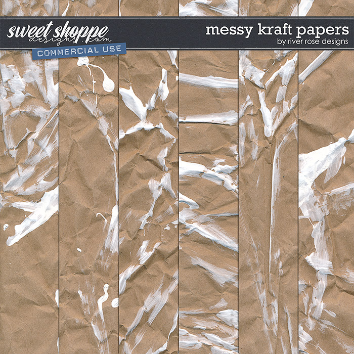 CU Messy Kraft Papers by River Rose Designs