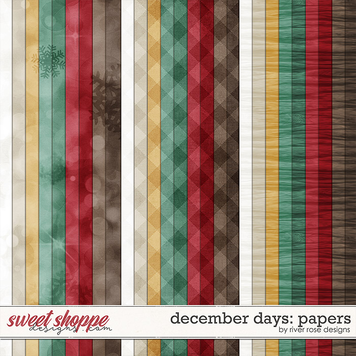 December Days Papers by River Rose Designs