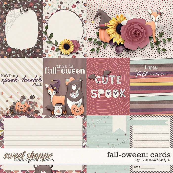 Fall-oween: Cards by River Rose Designs