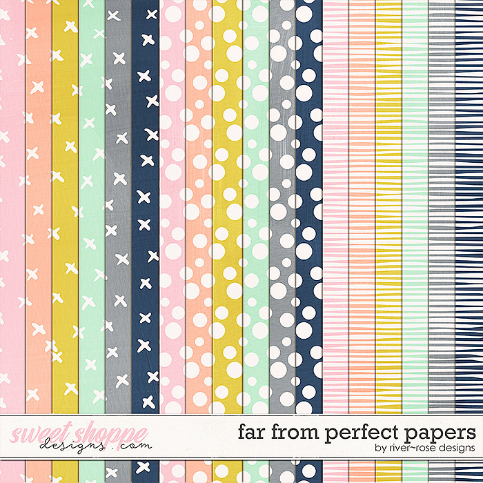 Far From Perfect Papers by River Rose Designs