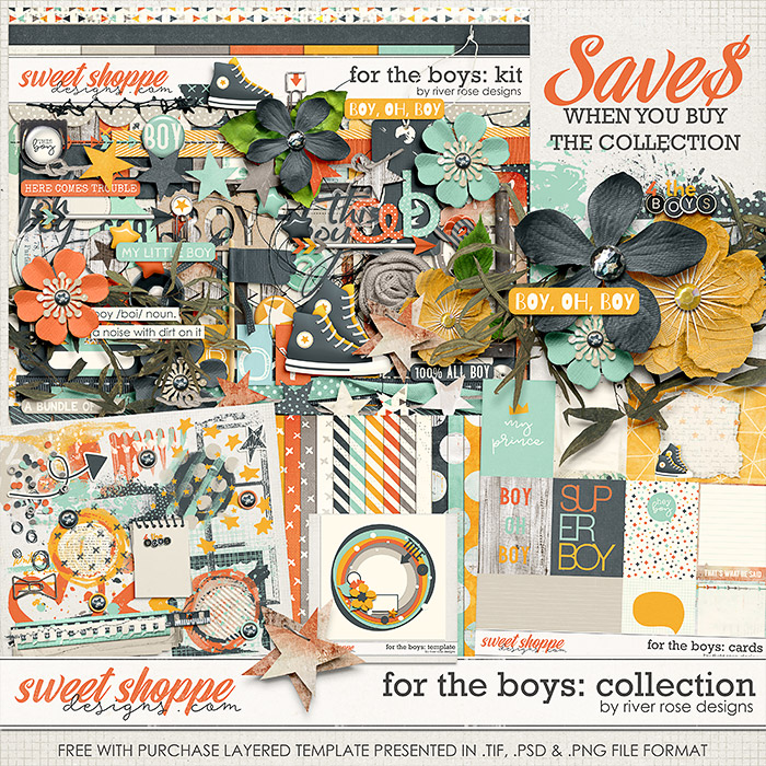 For the Boys: Collection + FWP by River Rose Designs