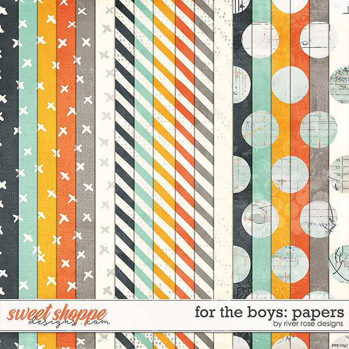 For the Boys: Papers by River Rose Designs