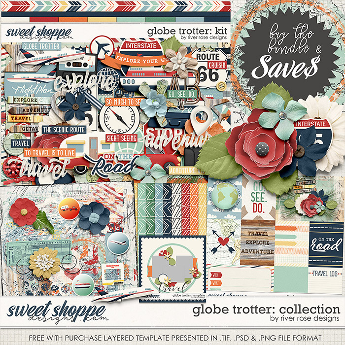 Globe Trotter: Collection + FWP by River Rose Designs