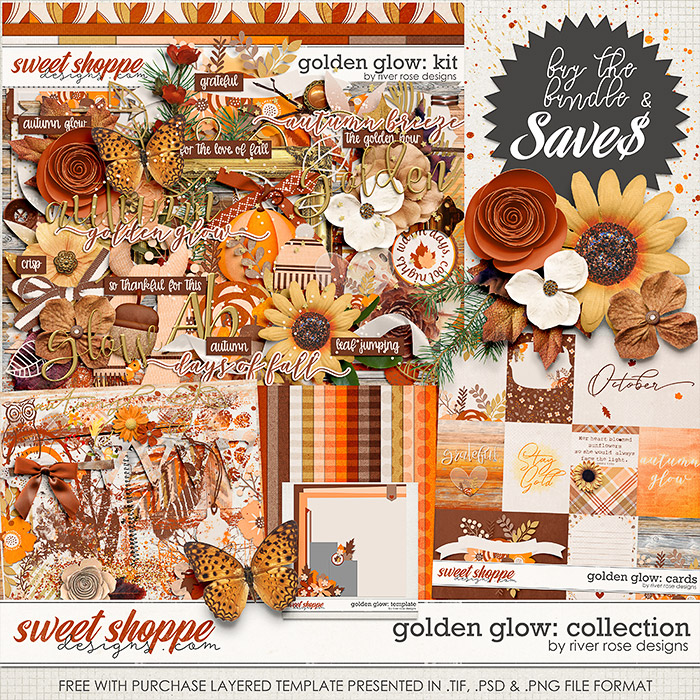 Golden Glow: Collection + FWP by River Rose Designs
