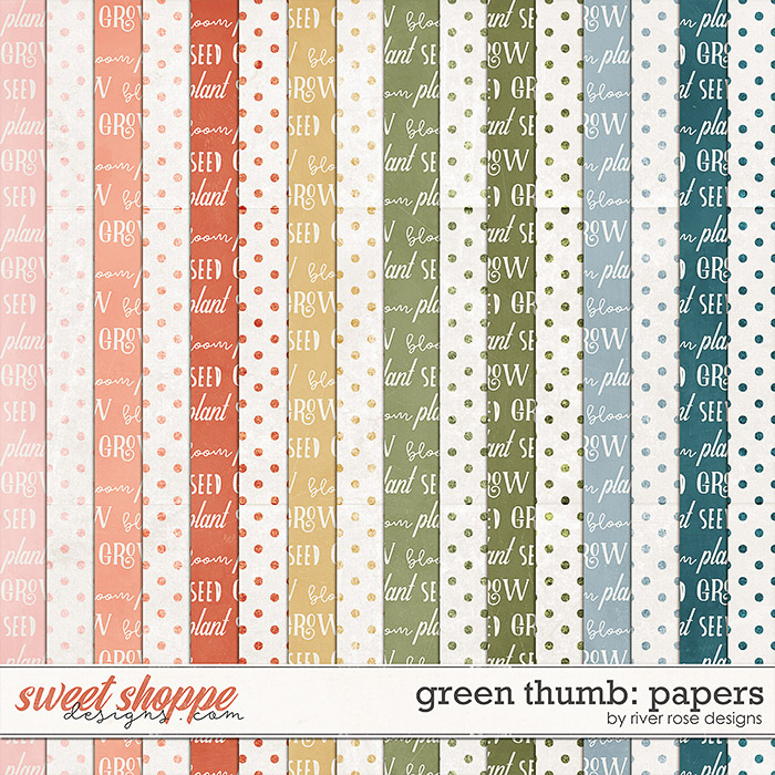 Green Thumb: Papers by River Rose Designs