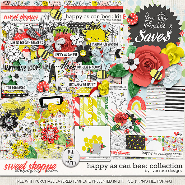 Happy As Can Bee: Collection + FWP by River Rose Designs