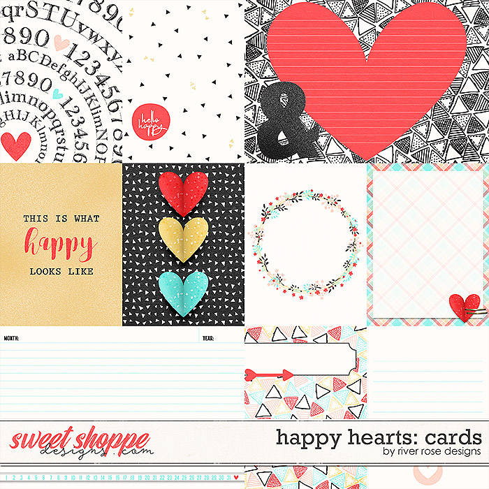 Happy Hearts: Cards by River Rose Designs